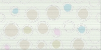 Opoczno Diago White Inserto Geo dekorcsempe 29,7 x 60