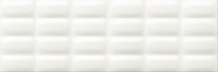 Opoczno dekorcsempe Opoczno White glossy pillow dekorcsempe 25 x 75