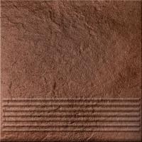 Opoczno lépcsőlap Opoczno Solar brown streptread 3d lépcsőlap 30 x 30